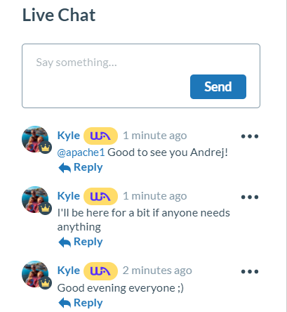 Wealthy Affiliate Review - Kyle on LiveChat