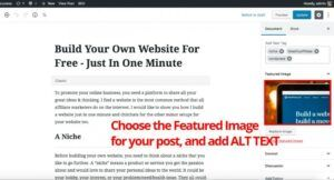 You may add ALT TEXT when you are choosing featured image for your post.