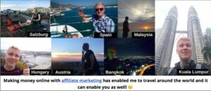 10 Wealthy Affiliate Success Stories - Roope Kiuttu made his trips around the world by his website.