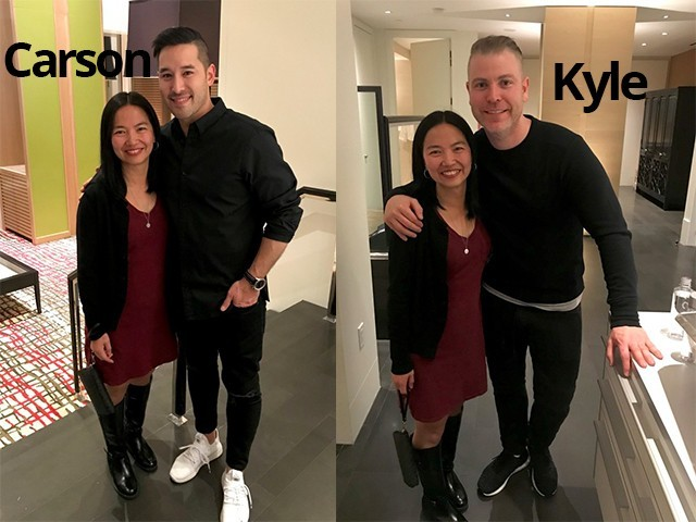 Grace finally met Kyle and Caron in person in Las Vegas Conference 2019