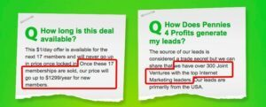 Pennies 4 Profits Review - My TOP#01 Concern for Pennies 4 Profits is scarcity pressure and unclear information on its website.