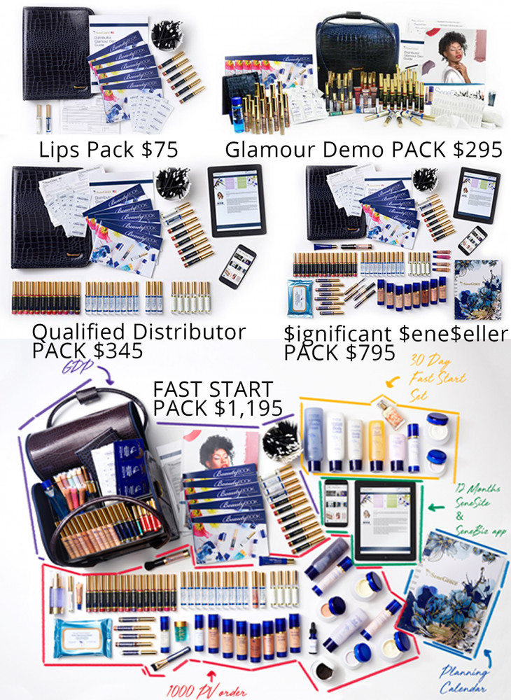 SeneGence also offers you five demo packs to choose.