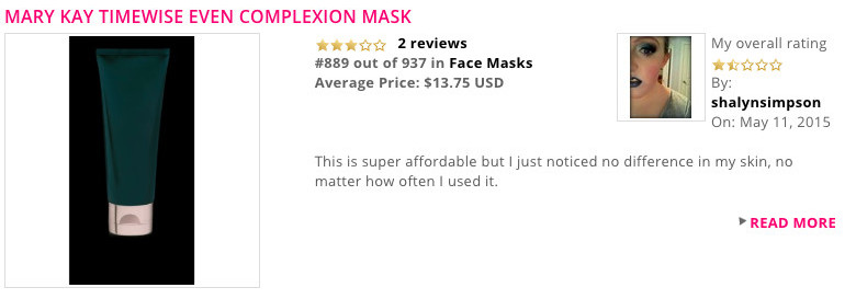A negative Mary Kay product Review