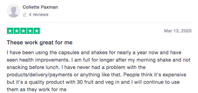 Is Juice Plus+ A Scam? - Positive feedback 01
