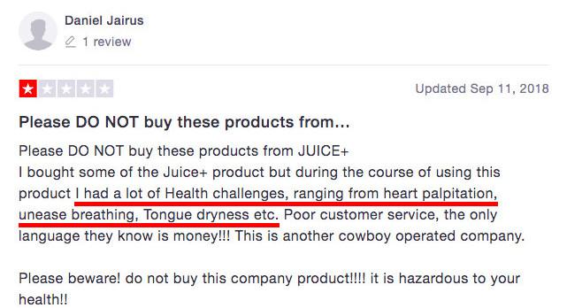 Is Juice Plus+ A Scam? - Negative feedback 03