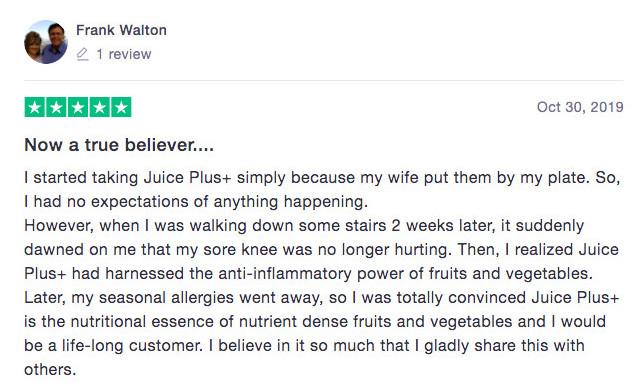 Is Juice Plus+ A Scam? - Positive feedback 02