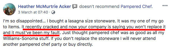 Is Pampered Chef A Pyramid Scheme? - Pampered Chef Negative Comment