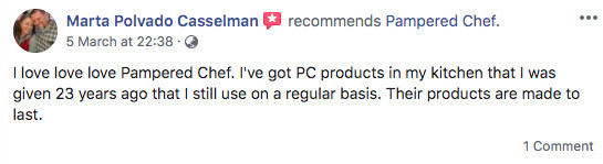 Is Pampered Chef A Pyramid Scheme? - Pampered Chef Positive Comment