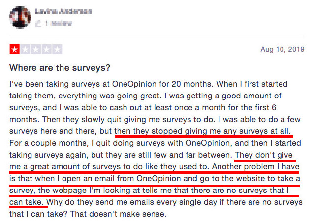 OneOpinion Review - No Available Surveys on OneOpinion