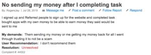 Clout Pay Review - complaint