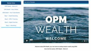 What Is OPM Wealth? - Members area