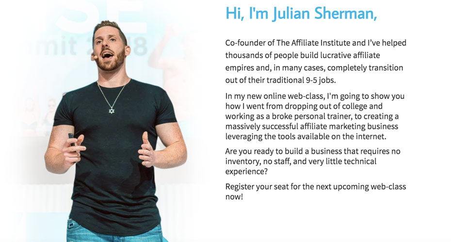 What Is Affiliate Institute About? - Julian Sherman