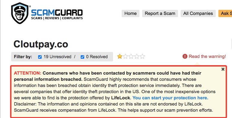 Clout Pay Review - Personal Information breached