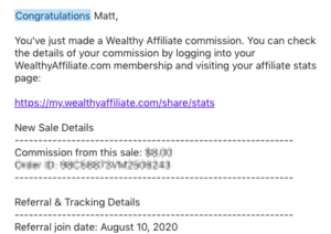 Wealthy Affiliate Review - My earning proof