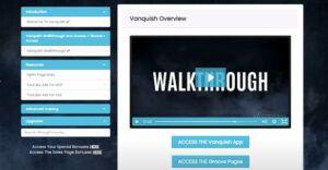 Vanquish Review - Members area