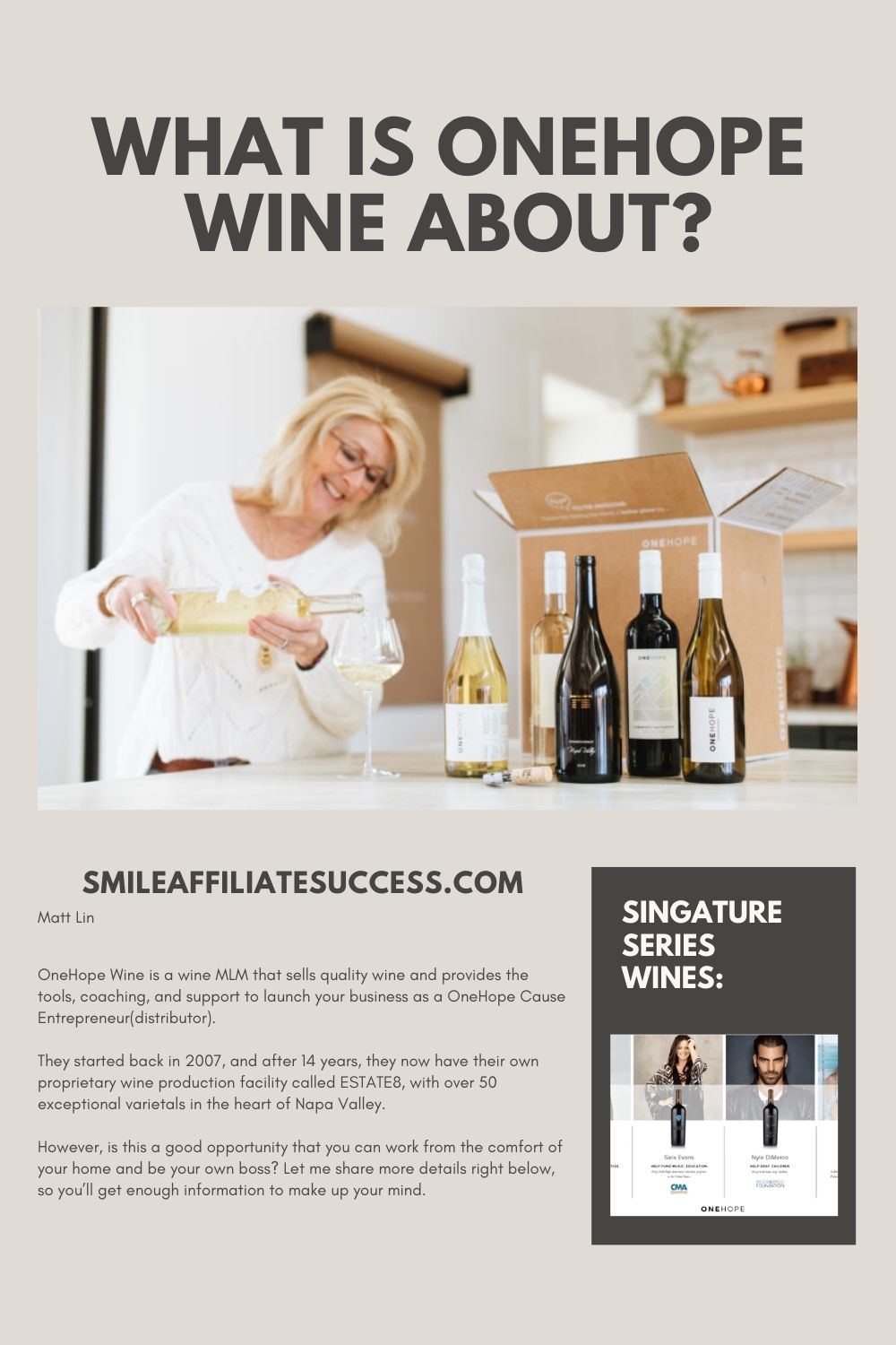 What Is OneHope Wine About?
